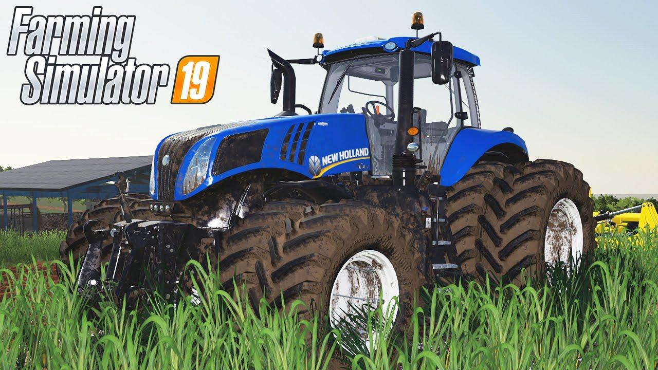 NH T8.435 PASSANDO O ARADO NO CAMPO DO VIZINHO   Farming Simulator 19   Os Pioneiros - Episódio 54