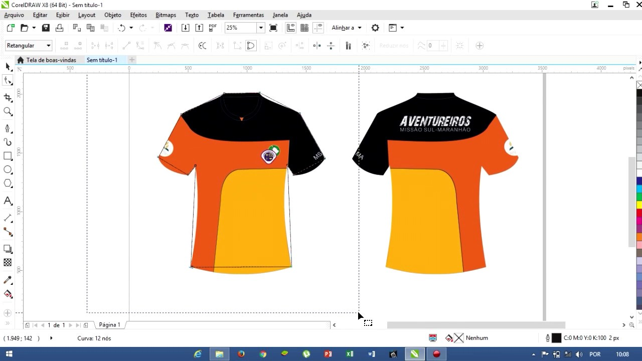 d1170bbee3ceb COMO FAZER CAMISA NO COREL DRAW - YouTube