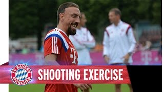 Ribéry, Pizarro & Co. Shooting Exercise