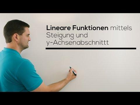 Lineare Funktion Mittels Steigung Und Y-Achsenabschnitt Aufstellen | Mathe By Daniel Jung