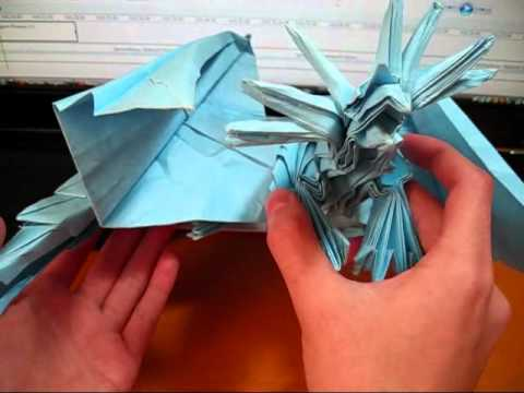 Origami Ancient Dragon And Phoenix 35 Not A Tutorial Reuploaded