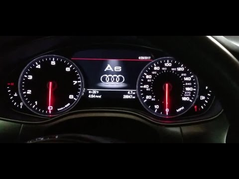 Enable needle sweep / gauge test and remote windows open on 2014 Audi A6 - DIY