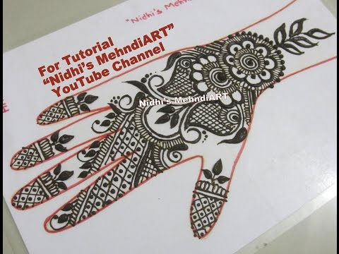 Arabic Henna Mehndi Art Design Tutorial Front Hand Youtube