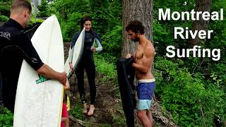 Surfing Montreal River St Lawrence !!! Amazing !!!