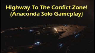 Elite Dangerous - Anaconda Conflict Zone Gameplay