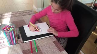 Ave Rox Stories: How to draw a watermelon slice