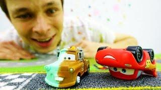 Игрушки из мультфильма Тачки: Мэтр и Фёдор помогают Маквину!