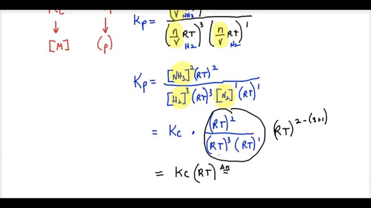 mathematical relationship between kp and kc equation