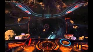Elite Dangerous asteroid belt dogfight