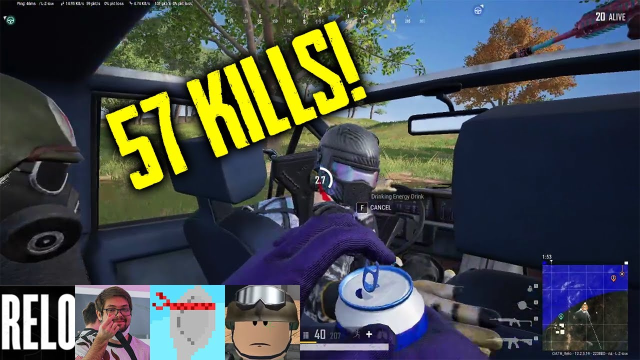 Relo, Kickstart, DaSpoon, Topuntik | 57 Kills | PUBG