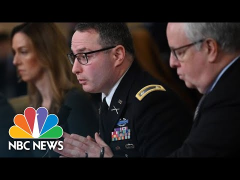 Vindman 'Immediately Dismissed' Offers To Become Ukraine's Minister Of Defense | NBC News