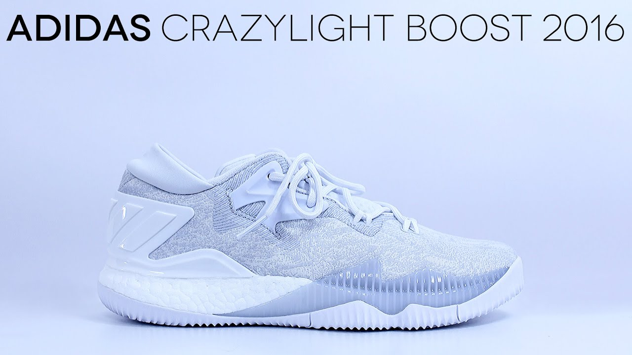 fe03edacdf45db adidas CrazyLight Boost 2016  All-White  - Detailed Review - YouTube