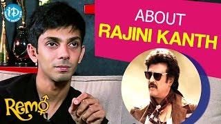 Anirudh Ravichander About Rajini Kanth | Remo Movie || Talking Movies With iDream