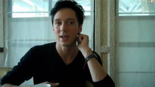 Johnny Weir talks to the Los Angeles Times