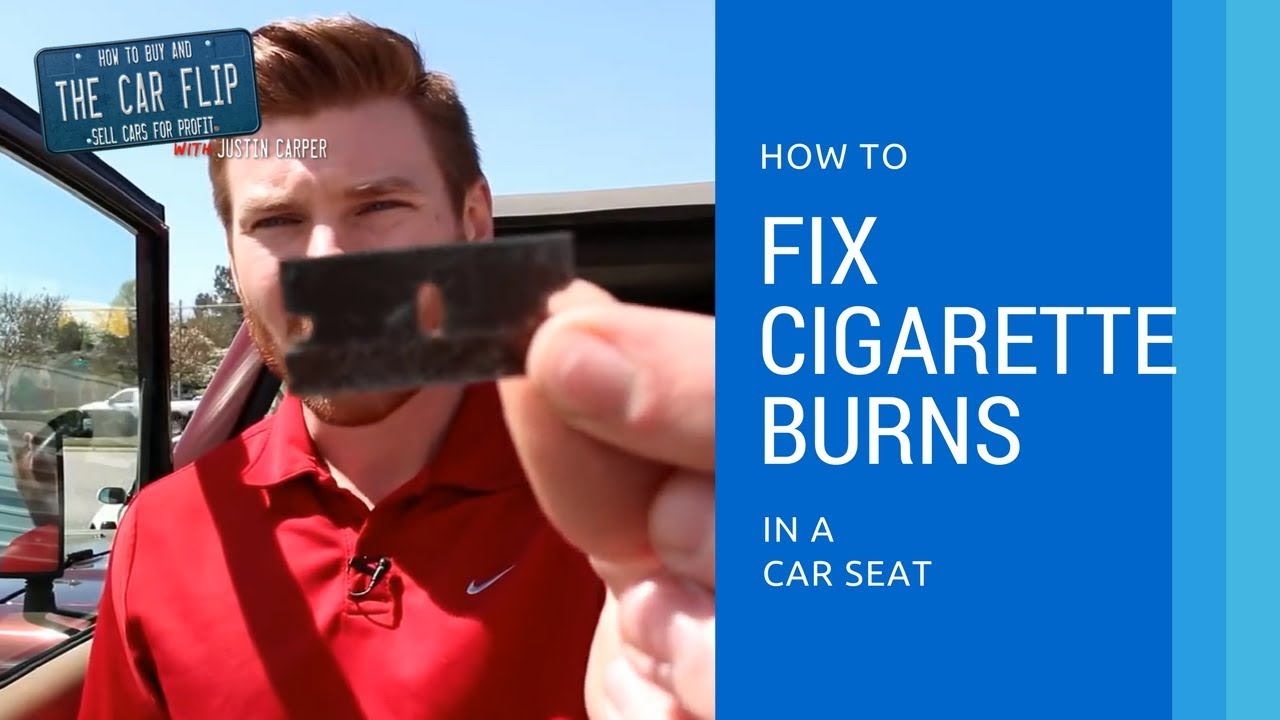 How To Fix Cigarette Burns In A Car Seat - YouTube