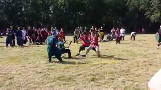 Asura vs ferrum crux jugging. Keep amtgard 2014
