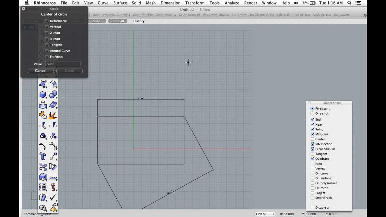 How to get Dimensions in Rhino 3D