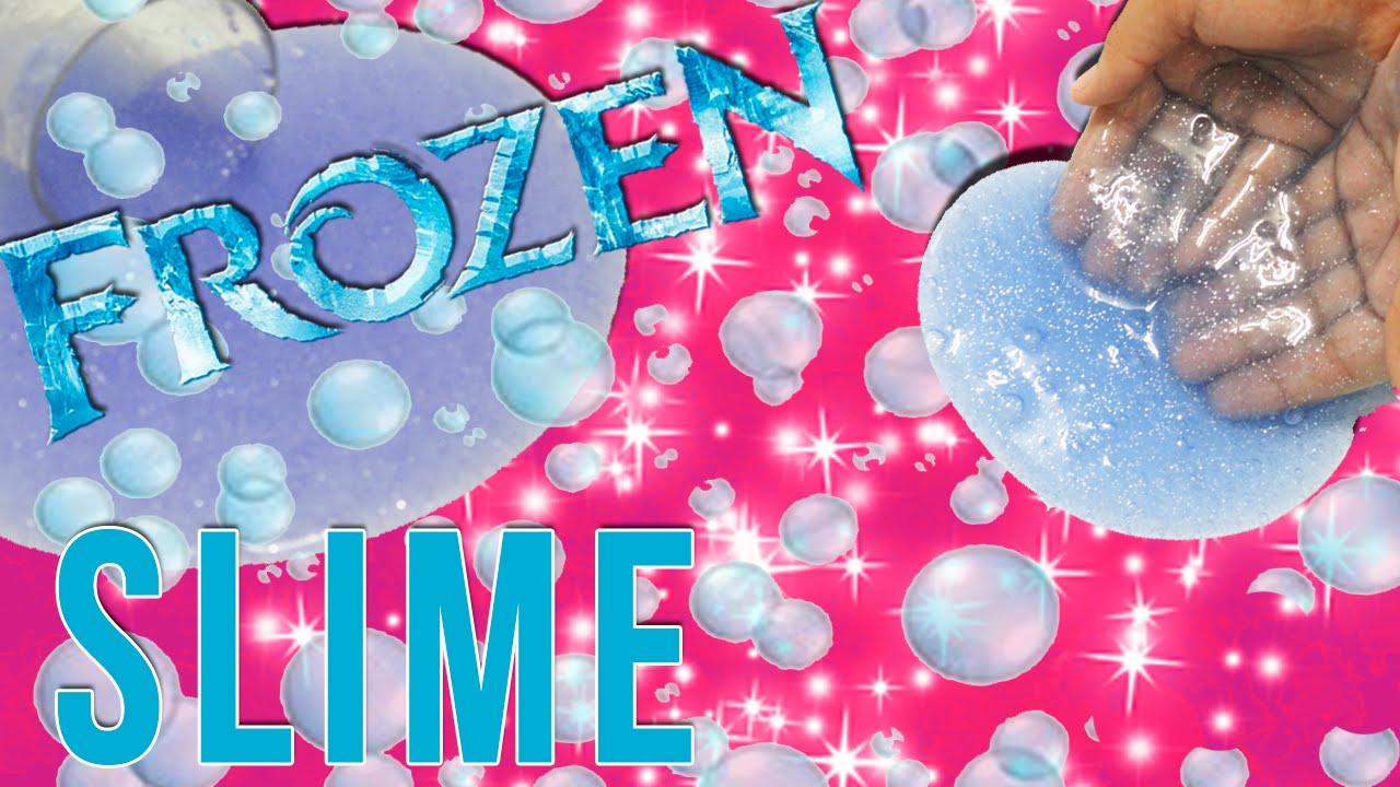 Diy  How To Make Slime  Disney Frozen Glitter Slime Putty!