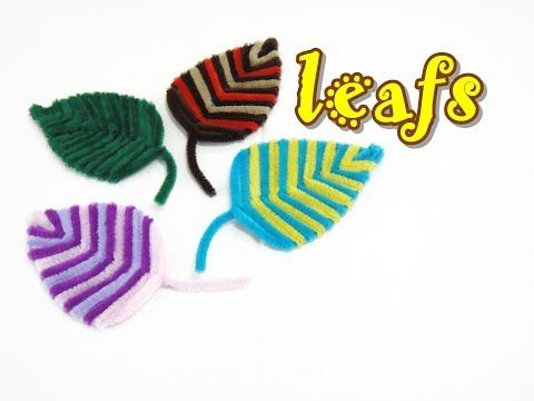 Pipe cleaner craft leaf youtube for Pipe craft