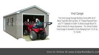 Vinyl Garage Storage Building
