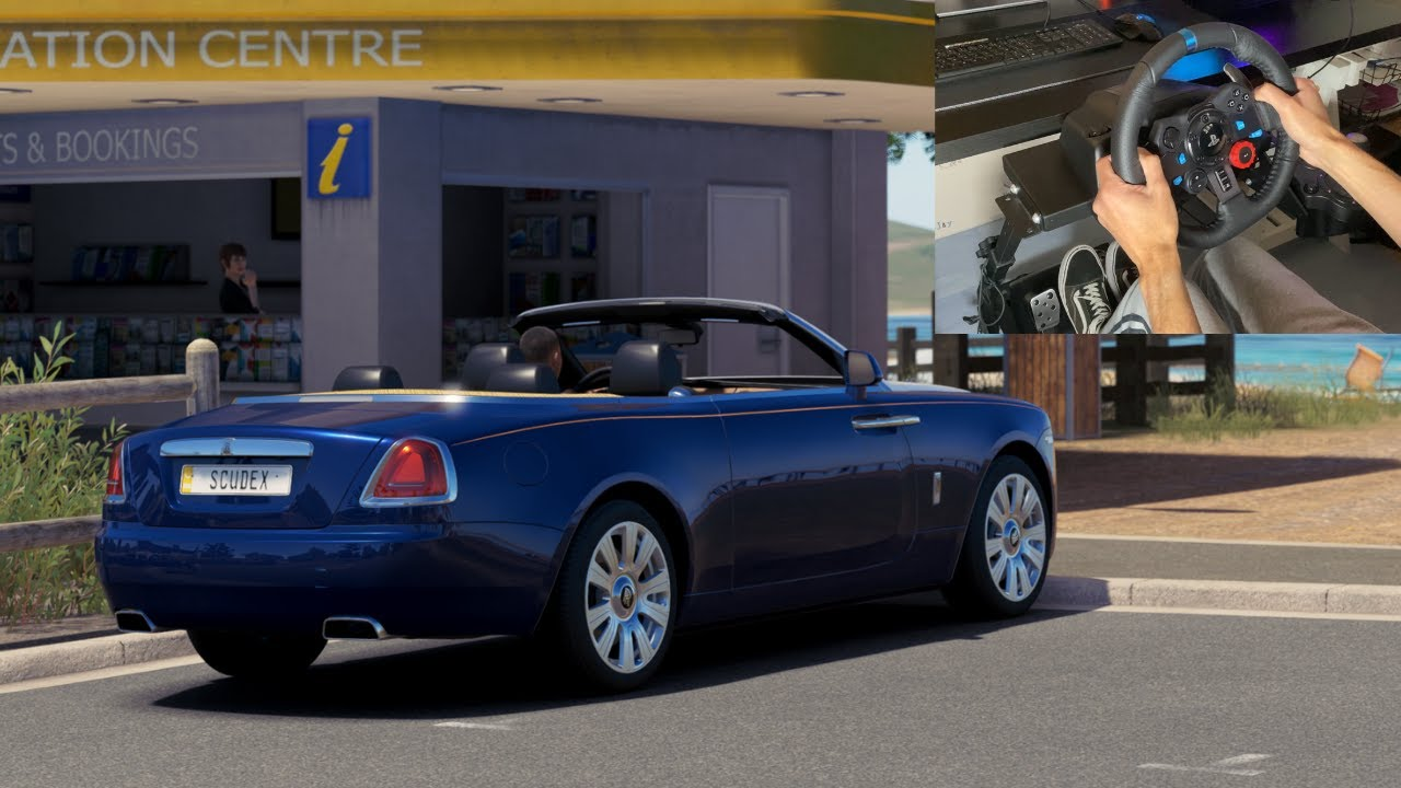Download Welcome back to FH3 ! Sunset drive in a ROLLS ROYCE DAWN - Forza Horizon 3 - Logitech G29 Gameplay