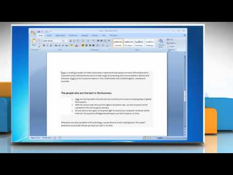How to delete a page in Microsoft® Word 2007