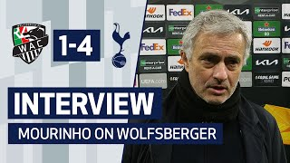 INTERVIEW | JOSE MOURINHO ON WOLFSBERGER WIN