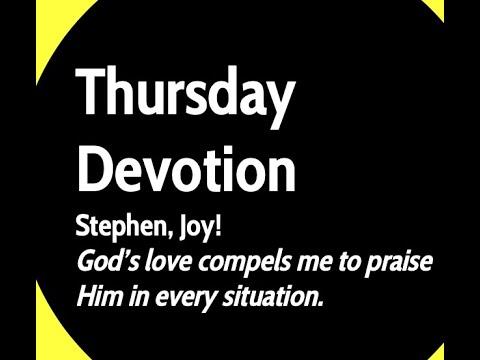 Thursday, September 10, Devotion, Mount Lebanon Lutheran School