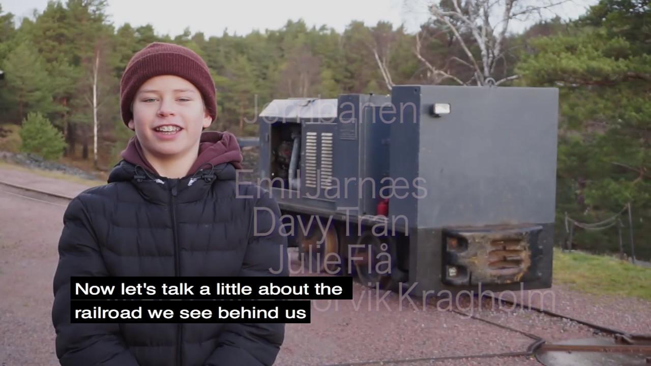 Kristiansand kanonmuseum: Elever ved Møvig skole forteller om ammunisjonsjernbanen