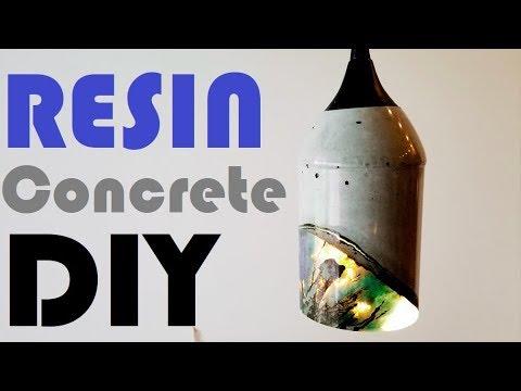 Beautiful Timelapse Single Concrete Resin Pendant Lamp DIY
