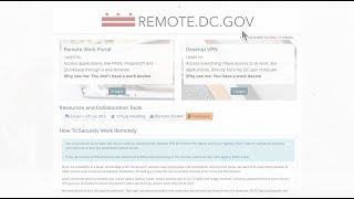 DCGOV | Getting Ready to Go Remote
