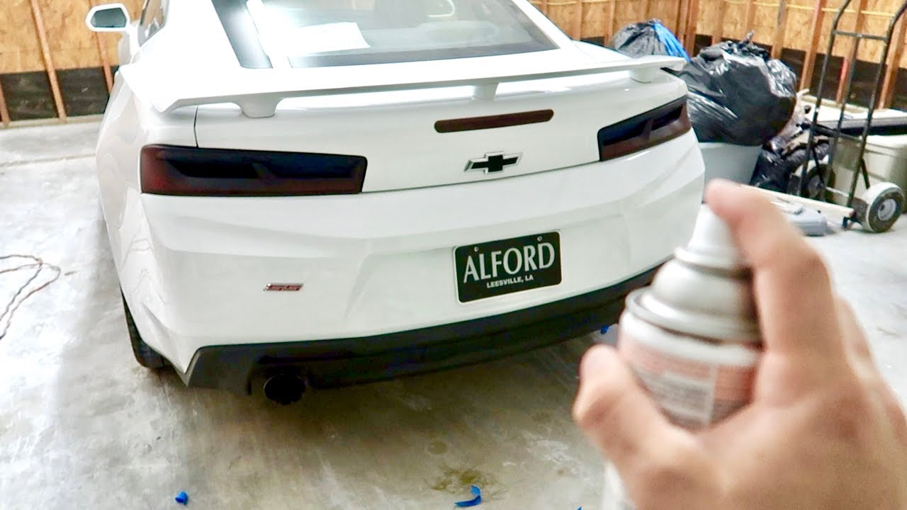 How To Tint 2016 Camaro Ss Tail Lights Blacked Out