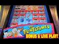 The Flintstones NEW SLOT MACHINE Bonus & Live Play!
