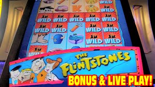 The Flintstones NEW SLOT MACHINE Bonus & Live Play!