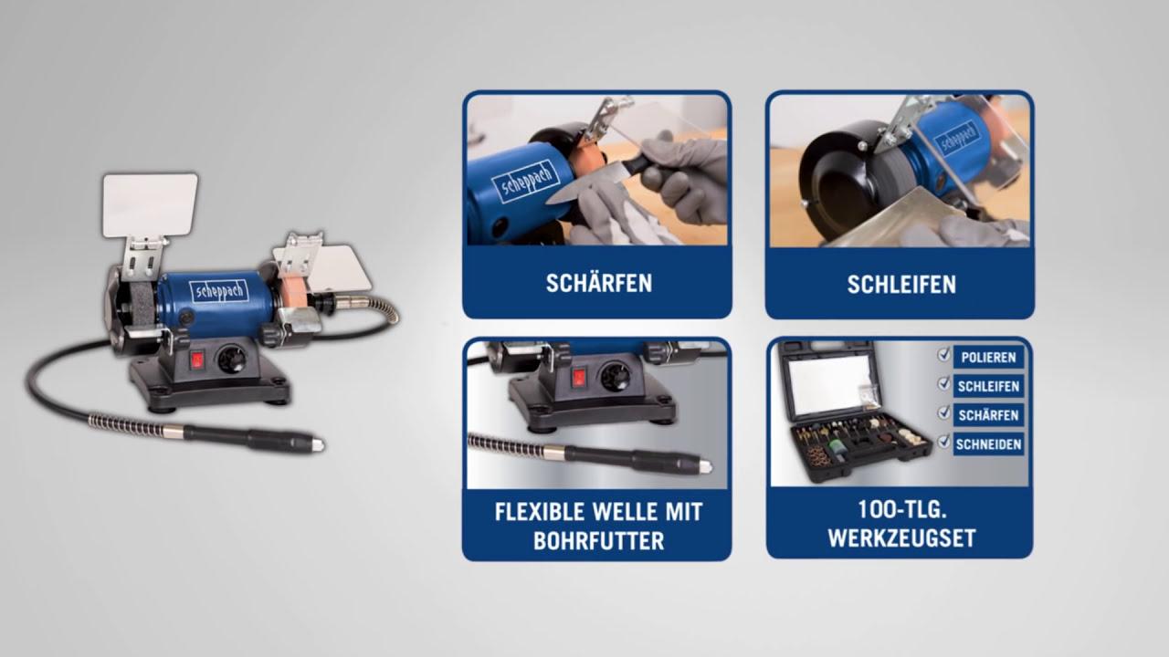 scheppach | schleifmaschine hg34 | de - youtube