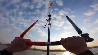 Chill Kitesurfing Session in Rewa, Poland   POV