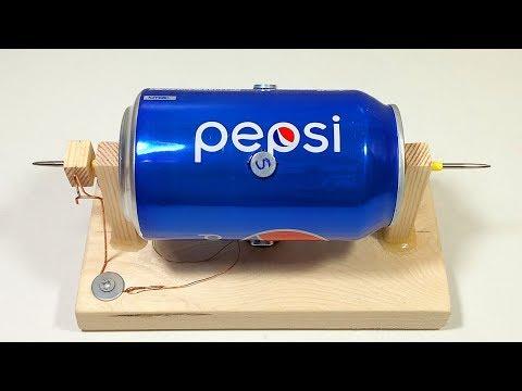 Как сделать электродвигатель из алюминиевой банки своими руками?