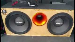 prv audio amplifier ad1200 1 on 2x 12mr2000 distance test