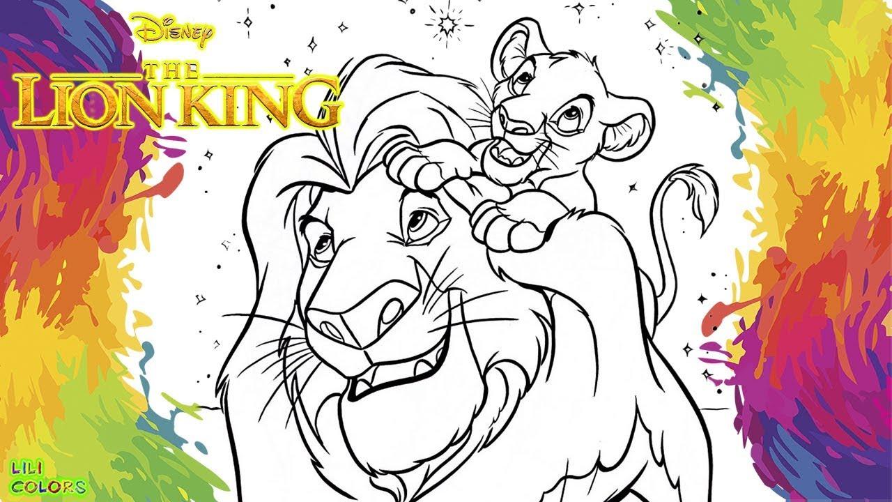 Colorir O Rei Leao Em Portugues The Lion King Simba Desenho