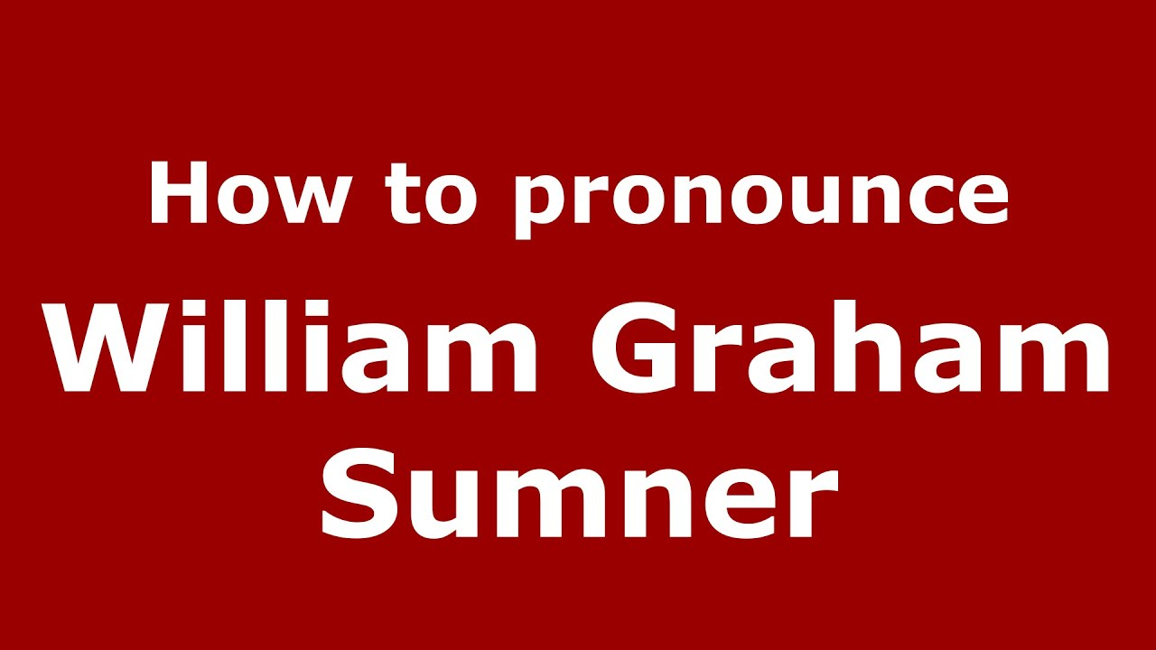 william sumner William graham sumner was one of the founding fathers of american sociology although he trained as an episcopalian clergyman, sumner went on to teach at yale.