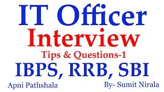 [Pre-recorded] Interview Questions for IBPS SO, RRB Scale 2, SBI IT Officer   Part-1 2017 Video