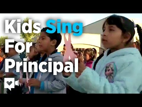 Shelley Wade - Kids Sing To Principal Fighting Cancer (Video)