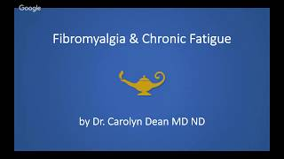 dr carolyn dean webinar fibromyalgia and cfs – the real story