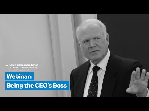 Being the CEO's Boss