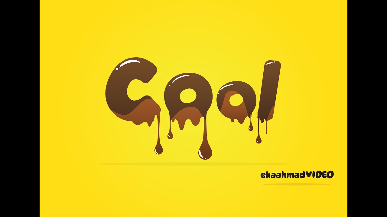 Melted Chocolate Text with Illustrator
