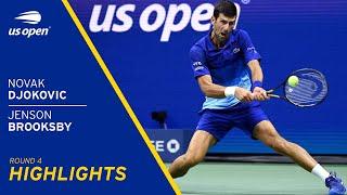 Novak Djokovic vs Jenson Brooksby Highlights | 2021 US Open Round 4