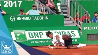 Djokovic Takes Hard Fall Monte-Carlo 2017