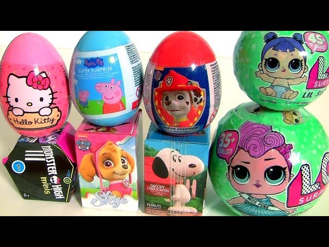 LOL Balls Peppa Pig Monster High Paw Patrol Hello Kitty Huevos Sorpresa