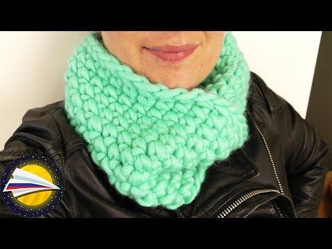 Вязание крючком шарф труба шарф-хомут из мохера