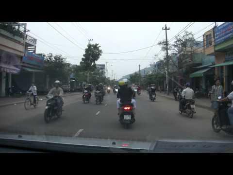 Traffic coming into Quy Nhon, Binh Dinh province, Vietnam